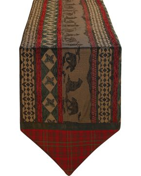HiEnd Accents Cascade Lodge Bear Table Runner, Multi, hi-res