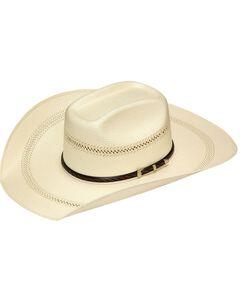 Twister 20X Shantung Buckle Band Straw Cowboy Hat, Tan, hi-res