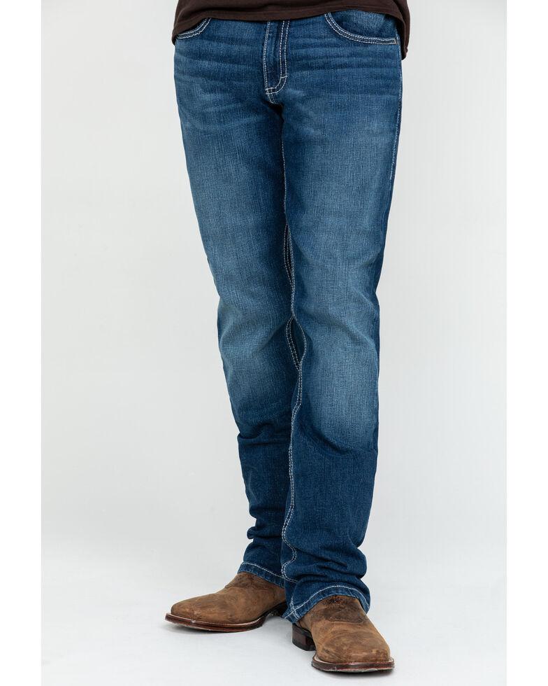 Wrangler 20X Men's No.42 Clyde Park Light Vintage Bootcut Jeans , Blue, hi-res