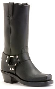 Frye  Women's Harness Boots - Square Toe, Black, hi-res