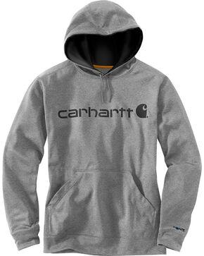 Carhartt Men's Extremes Signature Graphic Hooded Sweatshirt , Dark Grey, hi-res