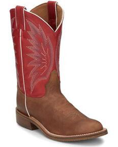 Tony Lama Men's Brayden Cedar Brown Western Boots - Round Toe, Brown, hi-res
