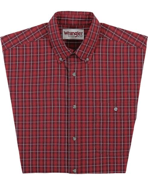 Wrangler Men's Red Rugged Wear Blue Ridge Western Shirt - Big , , hi-res