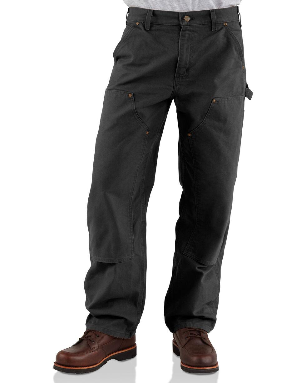 Carhartt Double Front Work Dungaree Pants, Black, hi-res
