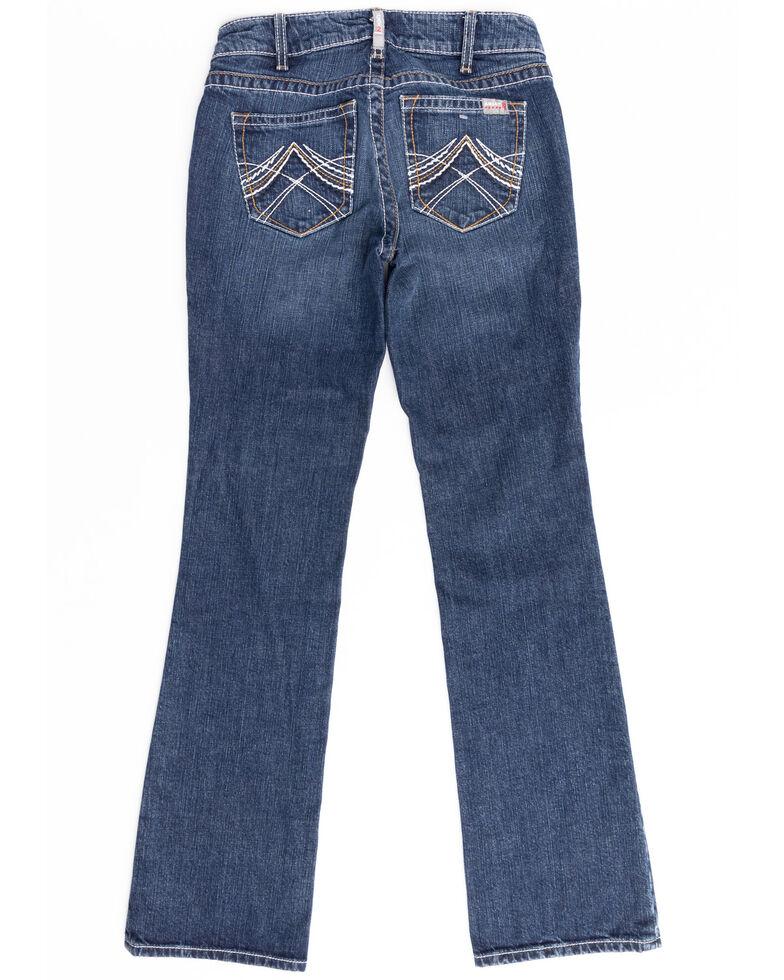 Ariat Women's Durastretch FR Whipstitch Bootcut Jeans, Blue, hi-res
