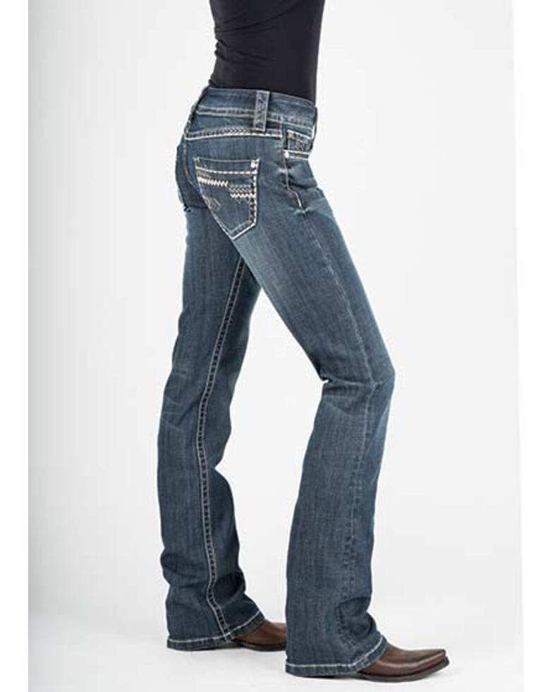 Stetson Women's 818 Hollywood Bootcut Jeans, Blue, hi-res
