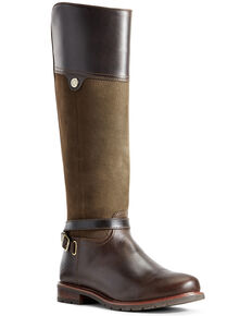 Ariat Women's Carden Waterproof Western Boots - Round Toe, Brown, hi-res