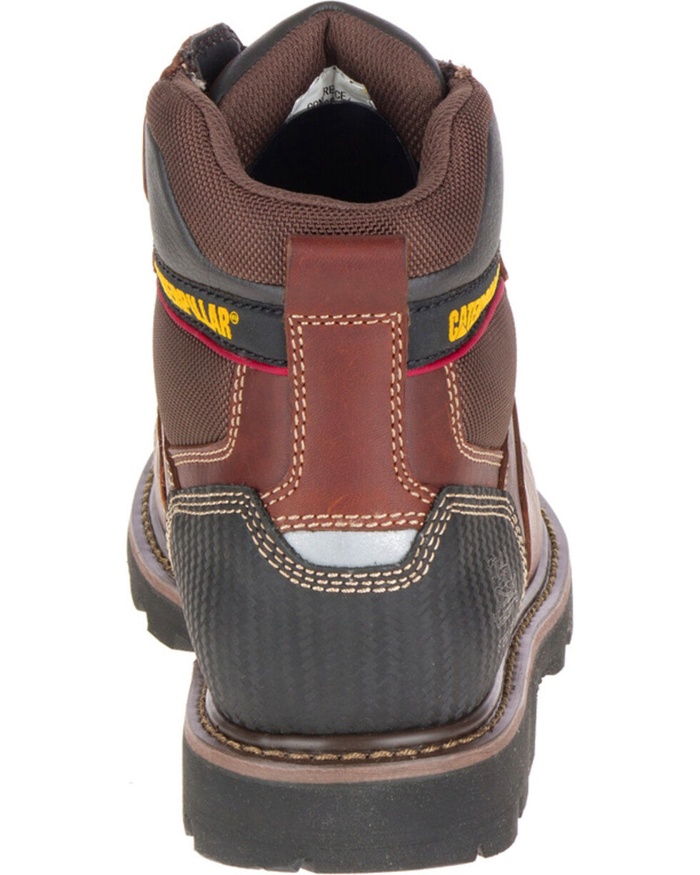 """CAT Men's Alaska 6"""" Work Boots - Steel Toe, Brown, hi-res"""