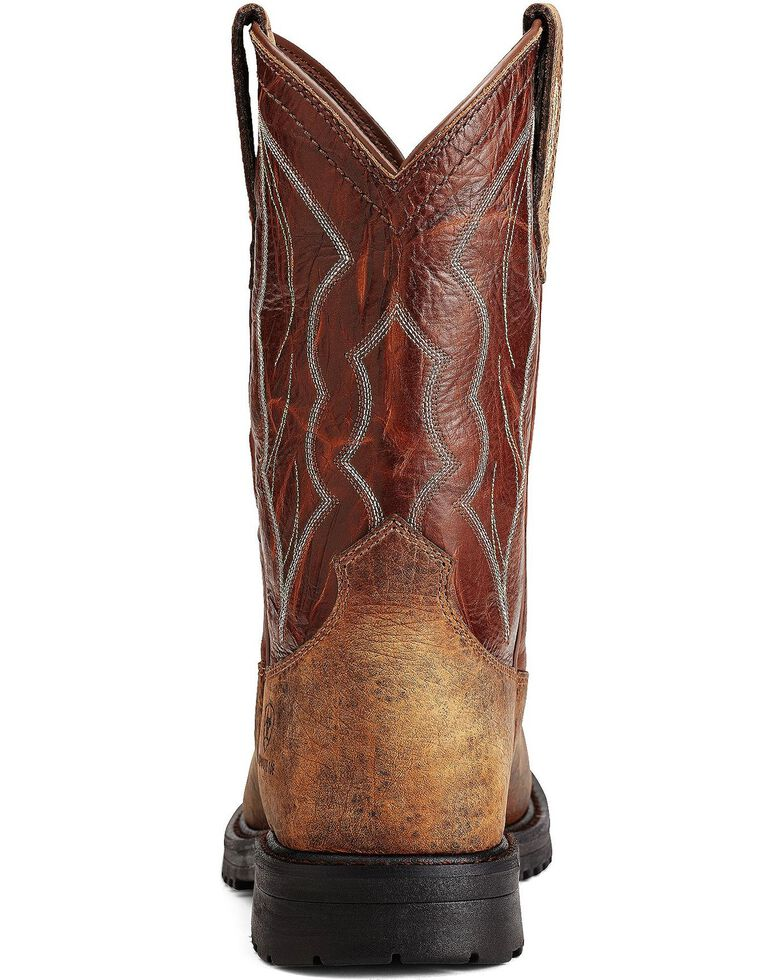 Ariat RigTek Pull-On Work Boots - Composite Toe, Earth, hi-res