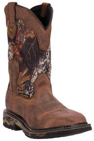 Dan Post Hunter Waterproof Camo Work Boots - Steel Toe, Saddle Tan, hi-res