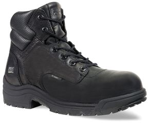 "Timberland Pro Men's Black TITAN 6"" Work Boots - Composite Toe , Black, hi-res"
