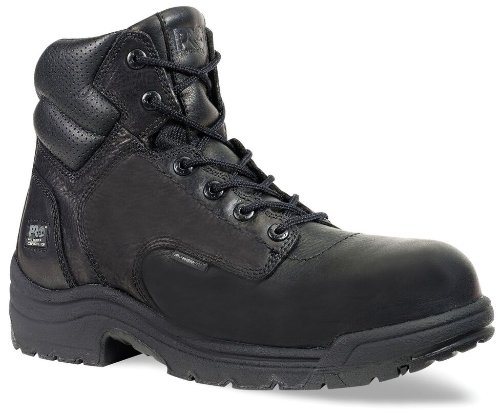 "Timberland Pro Men's Black TITAN 6"" Work Boots - Composite Toe , , hi-res"