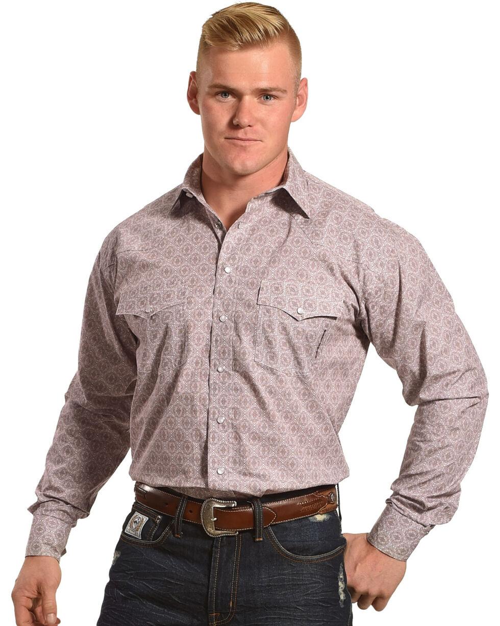 Resistol Men's Burgundy Woolsey Snap Western Shirt , , hi-res