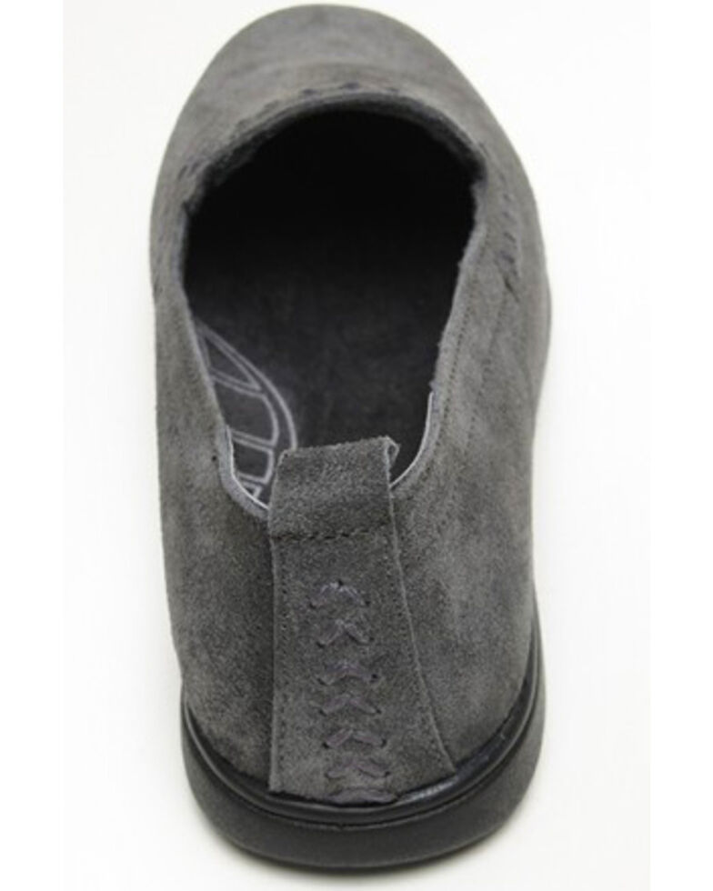 Minnetonka Women's Shay Suede Slip-On Shoes - Round Toe, Charcoal, hi-res