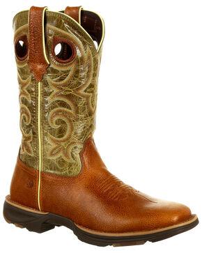 Durango Women's Ultr-Lite Western Boots - Square Toe, Chocolate, hi-res