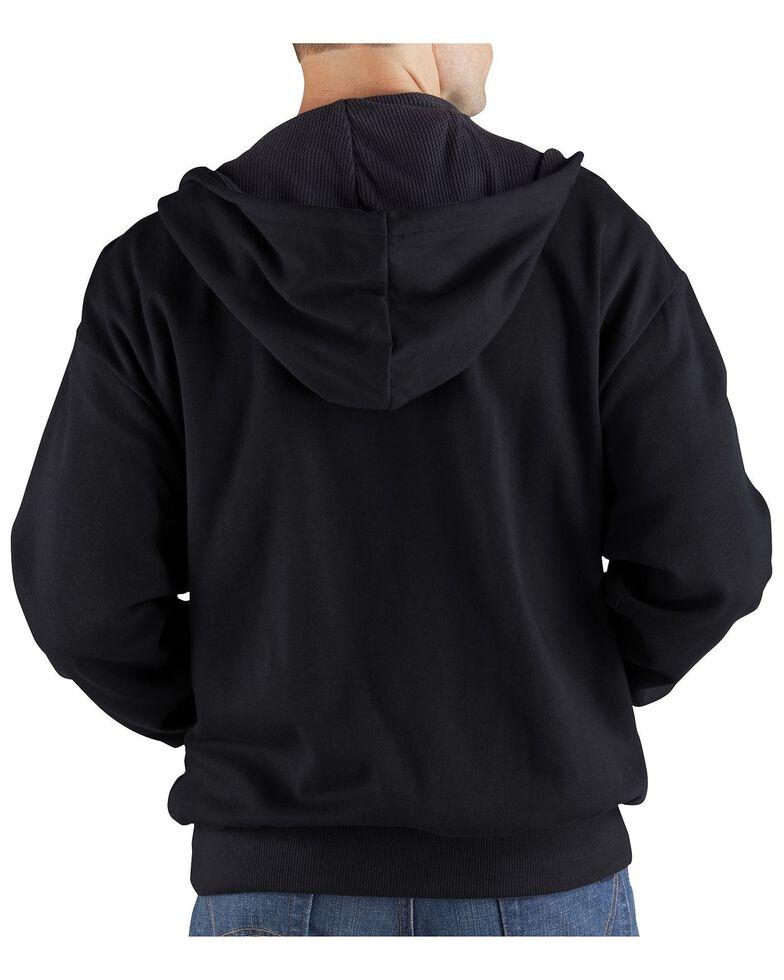 Dickies Midweight Fleece Zip-Up Hooded Work Jacket, Black, hi-res