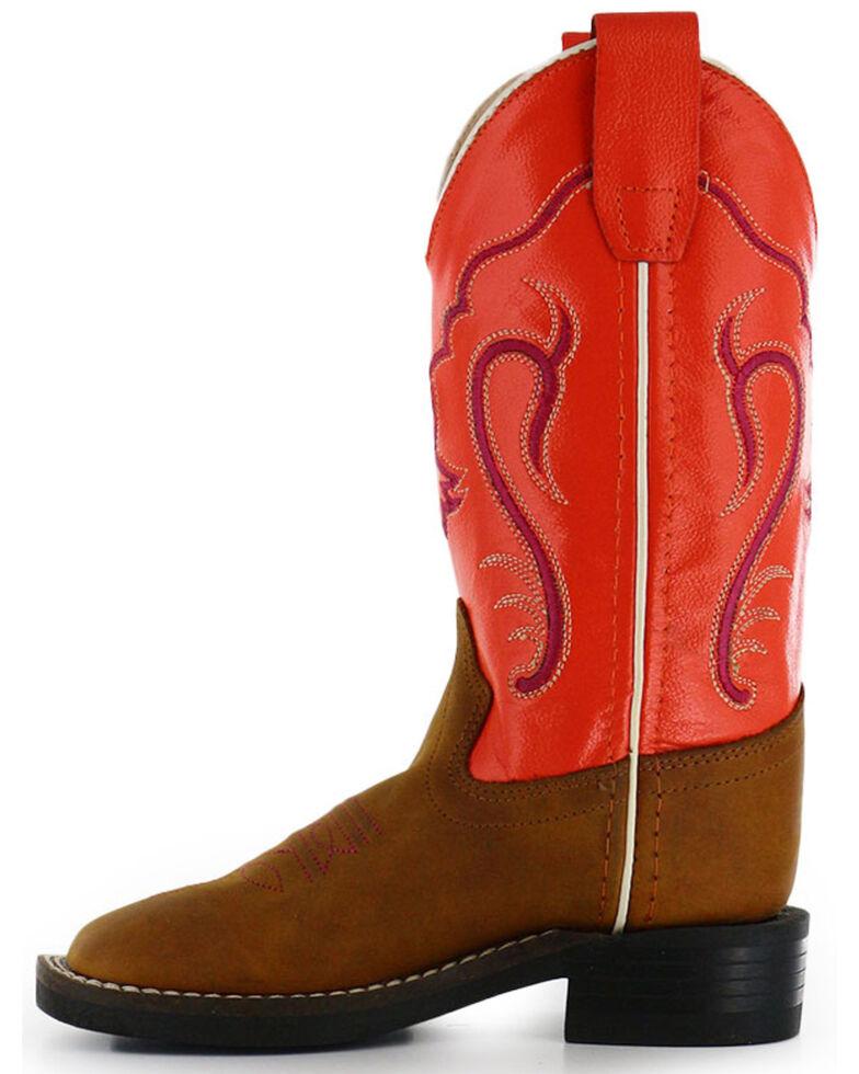 Cody James Boys' Orange Western Boots - Square Toe, Cognac, hi-res