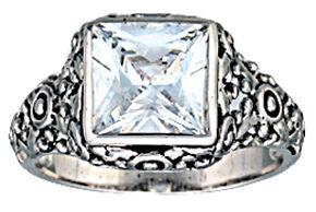 Montana Silversmiths Women's Mountain Princess Solitaire Ring, Silver, hi-res