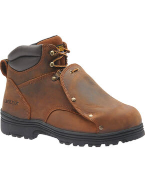 "Carolina Men's 6"" External MetGuard Boots - Steel Toe, Brown, hi-res"