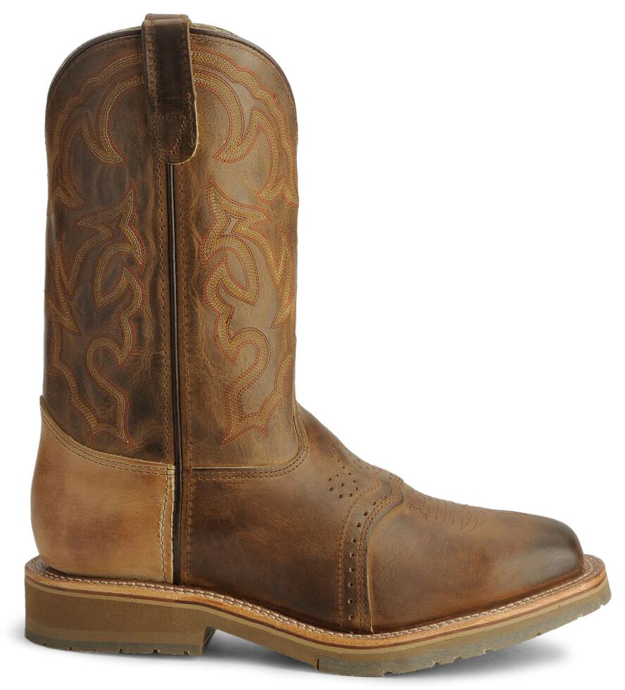 Double H Men's Ice Roper Cowboy Work Boots - Steel Toe, Bark, hi-res