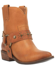 Dingo Women's Silverada Western Booties - Medium Toe, Camel, hi-res