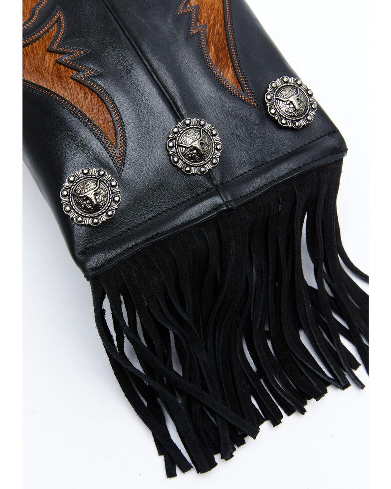 Shyanne Women's Boot Stitch Black Crossbody Bag, Black, hi-res