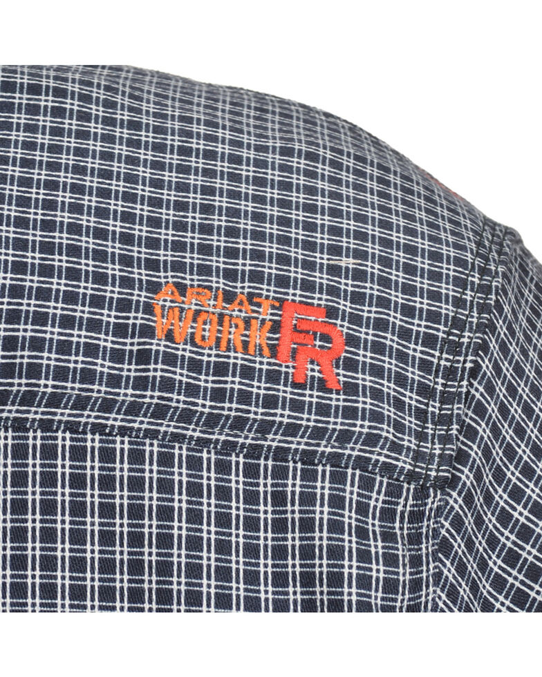 Ariat Men's FR Blue Plaid Work Shirt - Big & Tall, Blue, hi-res