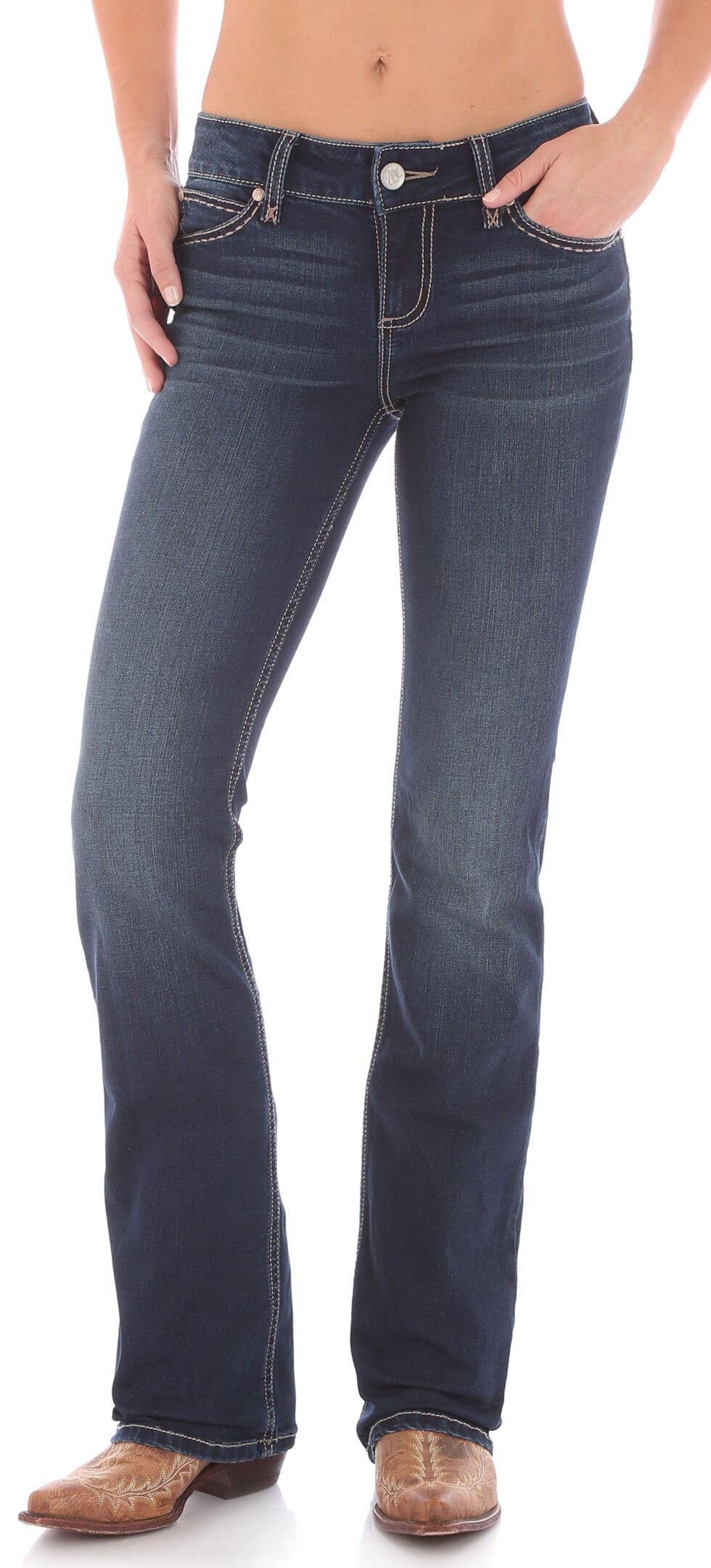 Wrangler Women's Dark Wash Retro Mae Jeans , Indigo, hi-res