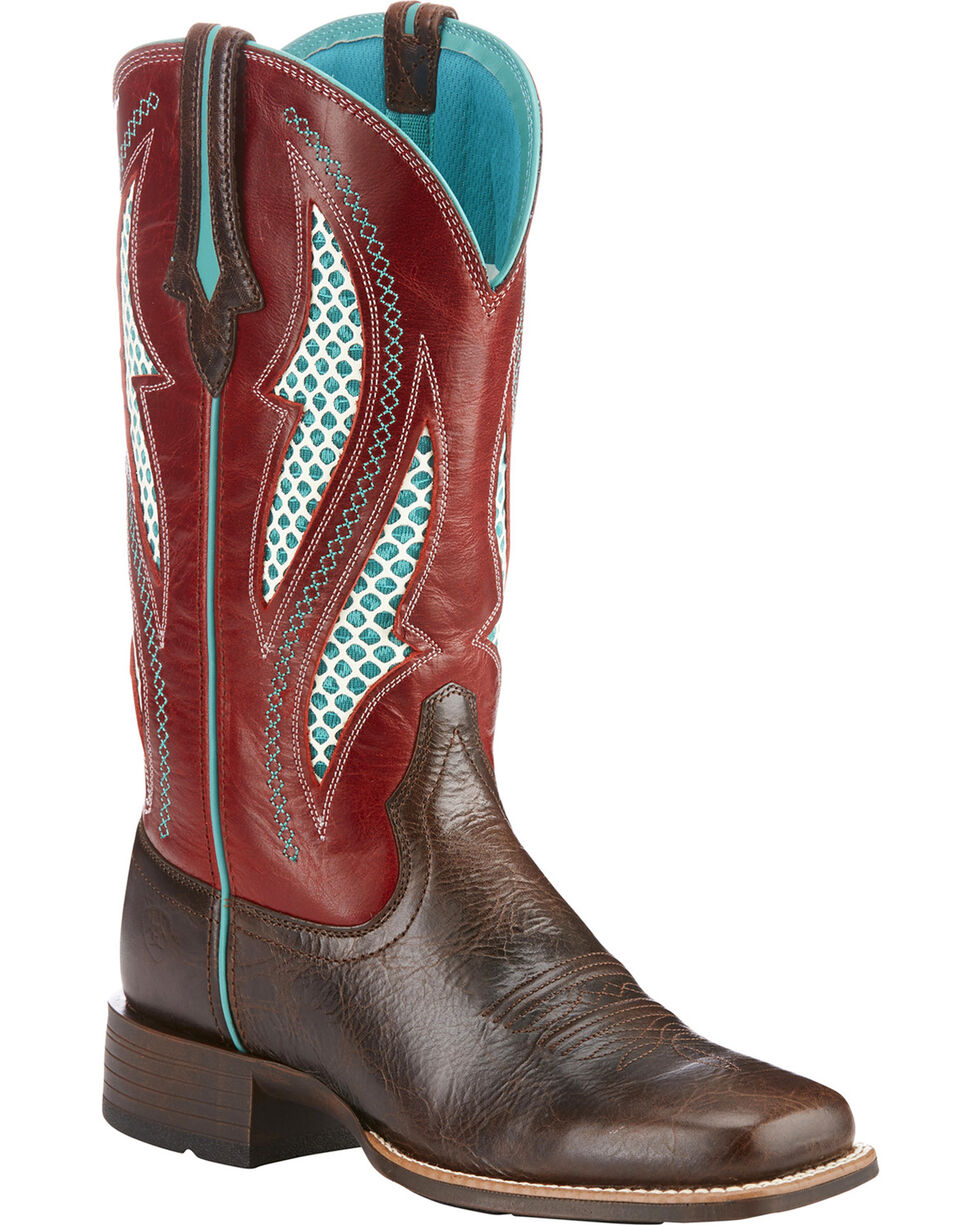 Ariat Women's VentTEK Ultra Cowgirl Boots - Square Toe , Lt Brown, hi-res