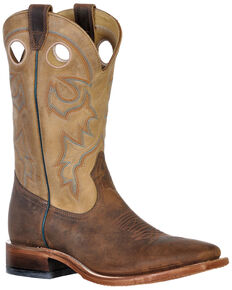 Boulet Men's Hill Billy Golden Western Boots - Wide Square Toe, Tan, hi-res