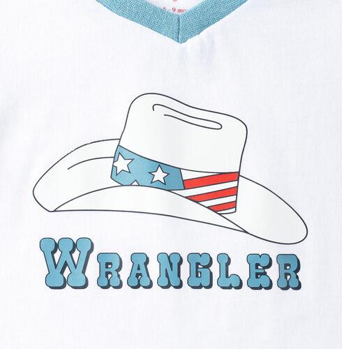 Wrangler Infant Boys' Logo with Hat T-Shirt, White, hi-res
