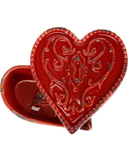 Stonebriar Collectibles Heart Ceramic Box, No Color, hi-res
