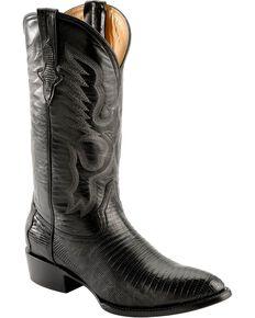 332ce38d1d0ee Ferrini Mens Black Teju Lizard Cowboy Boots - Medium Toe