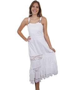 9702c4c31 Cantina by Scully Womens White Front Pocket Maxi Dress
