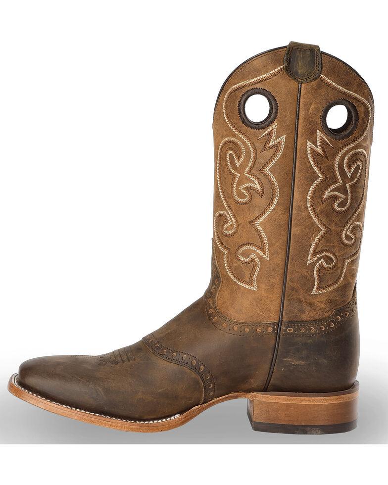 Cody James Men's Brown Saddle Vamp Western Boots - Square Toe, Brown, hi-res
