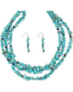 Shyanne Women's Turquoise Jewelry Set, No Color, hi-res