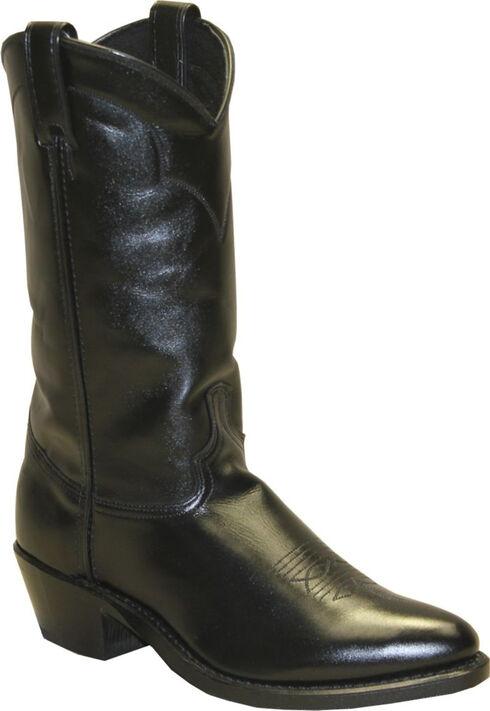 Abilene Polished Cowhide Boots - Medium Toe, Black, hi-res