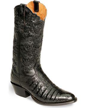 Tony Lama Signature Series Caiman Western Boots - Medium Toe, Black, hi-res
