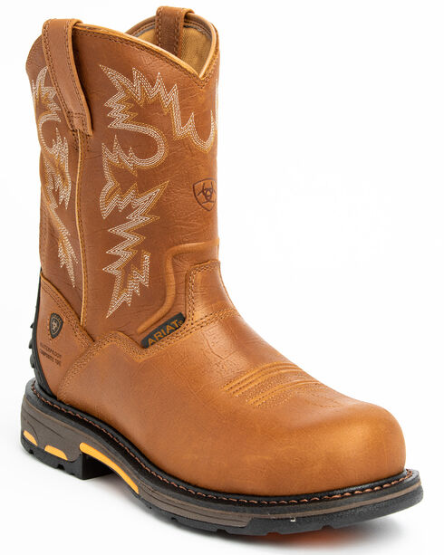 Ariat H20 Workhog Western Work Boots - Composition Toe, Bark, hi-res