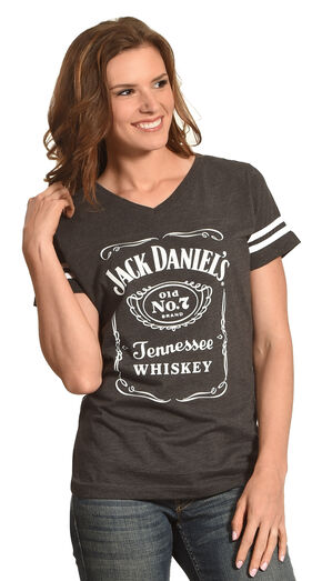 Jack Daniels Women's Grey Label Football T-Shirt , Grey, hi-res