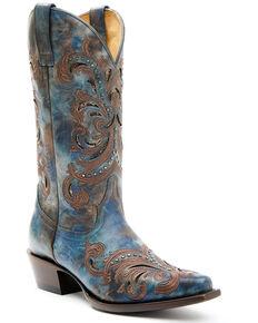Shyanne Women's Skye Western Boots - Snip Toe, Blue, hi-res
