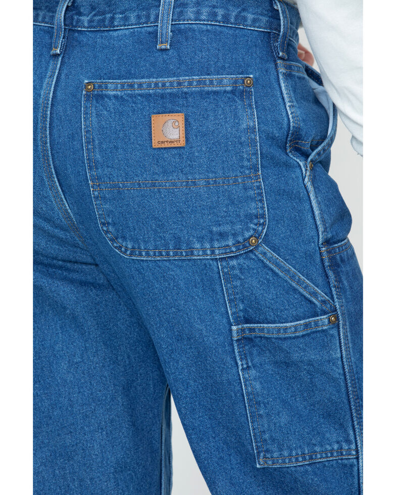 Carhartt Double Front Logger Washed Dungaree Work Jeans | Sheplers