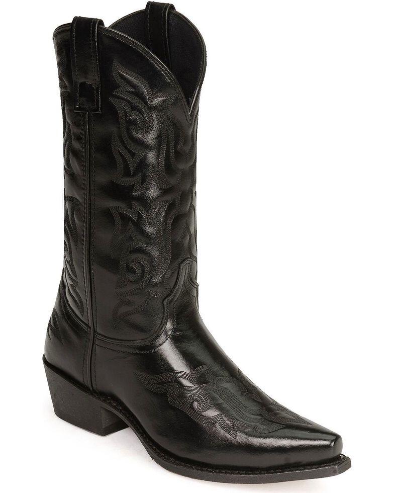 Laredo Hawk Cowboy Boots, Black, hi-res