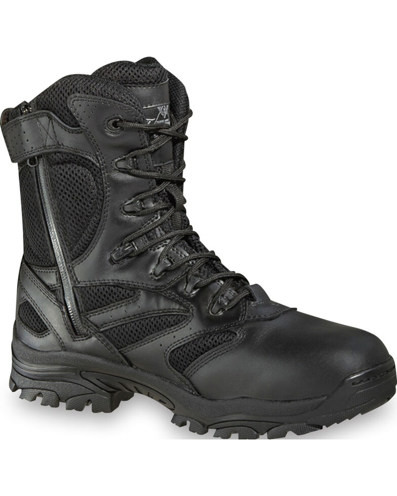 """Thorogood Men's Deuce 8"""" Waterproof Side Zip Work Boots, Black, hi-res"""