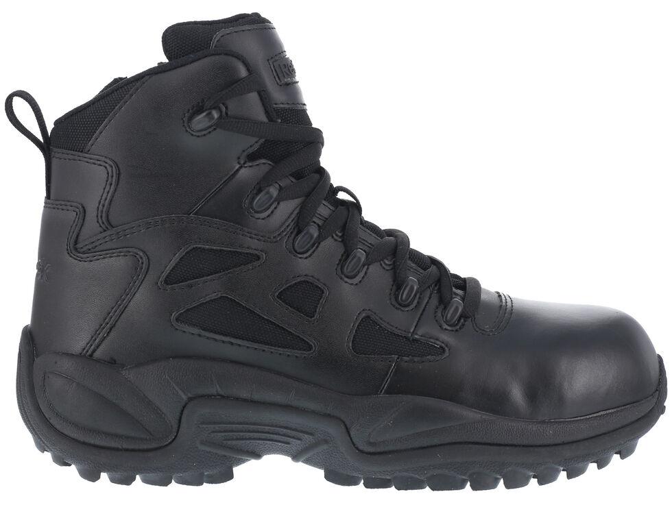"Reebok Men's Stealth 6"" Lace-Up Side Zip Work Boots - Composite Toe, Black, hi-res"