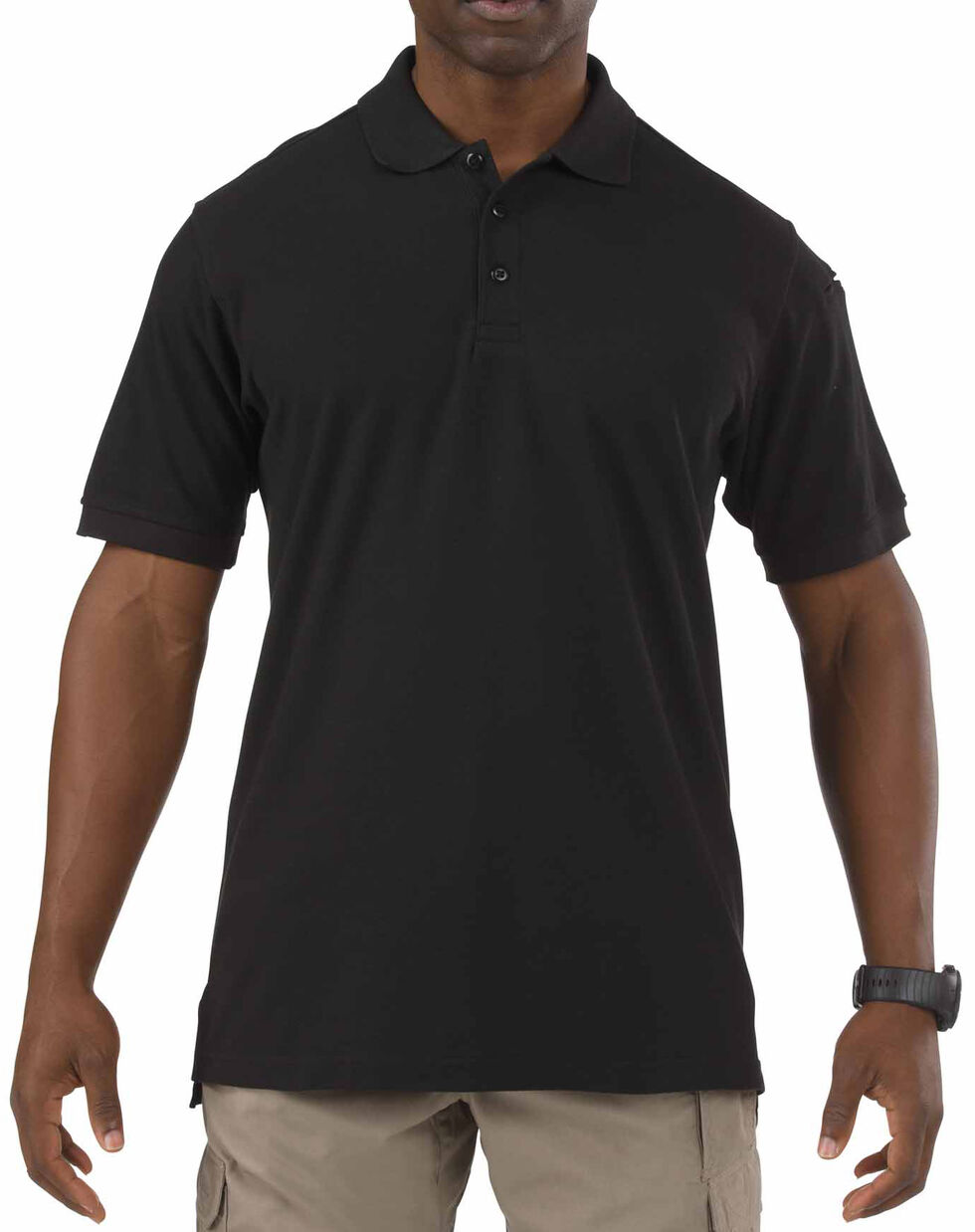 5.11 Tactical Utility Short Sleeve Polo Shirt, Black, hi-res