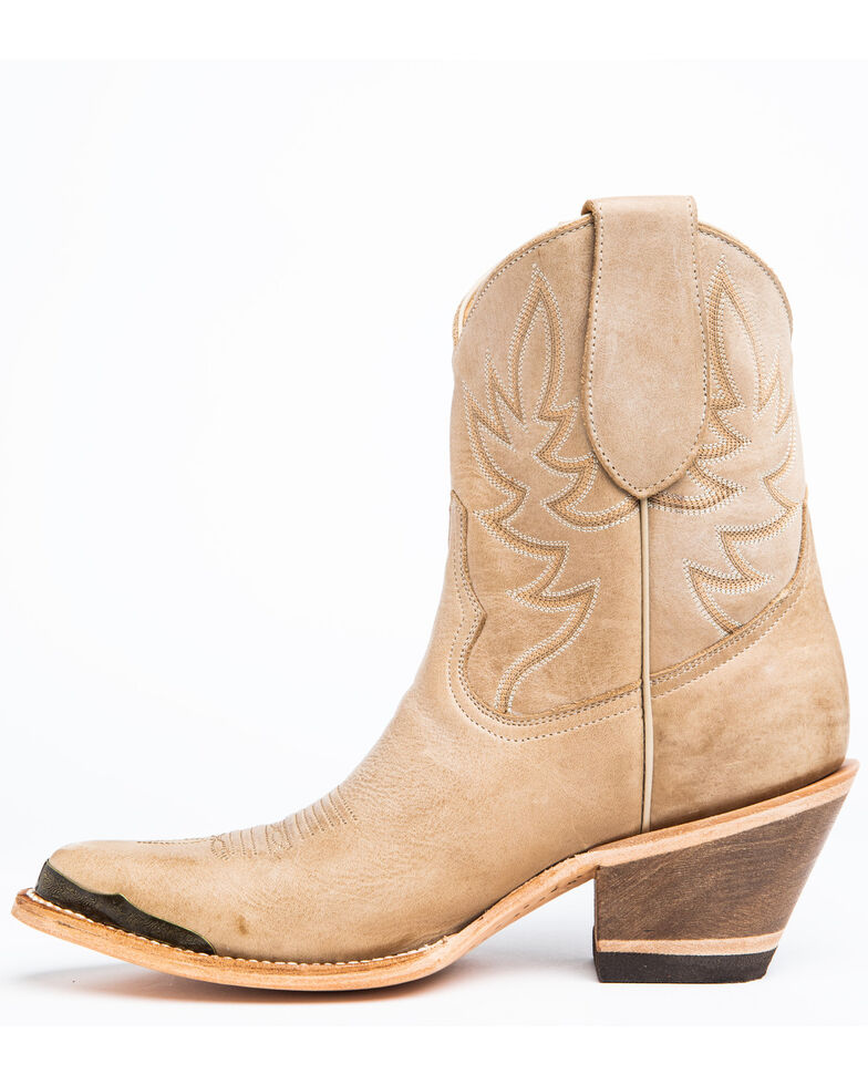 Idyllwind Women's Wheels Natural Western Booties - Round Toe, Natural, hi-res