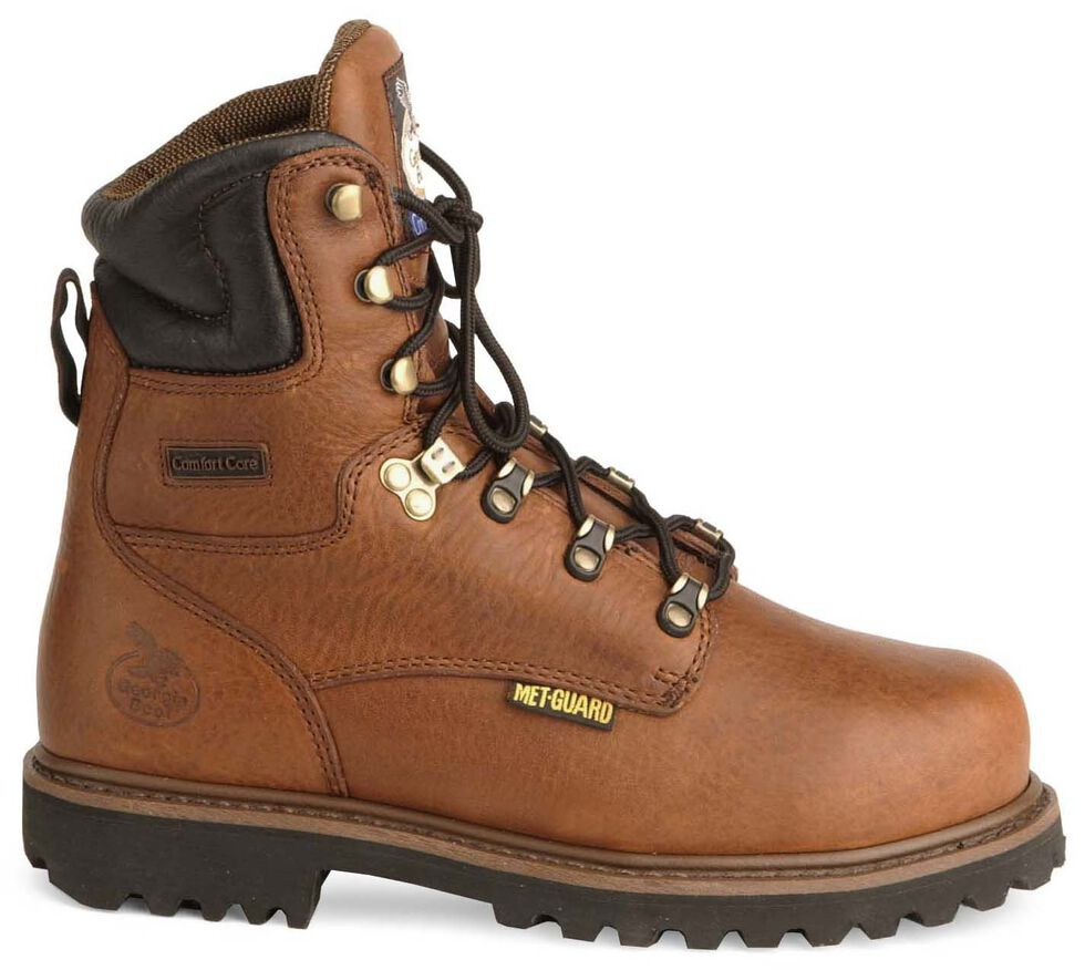 "Georgia 8"" Lace-Up Work Boots - Steel Toe, Briar, hi-res"