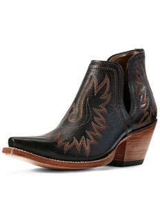 Ariat Women's Dixon Brooklyn Fashion Booties - Snip Toe, Black, hi-res