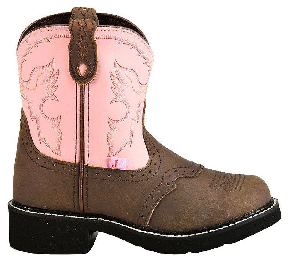 Justin Youth Girls' Bay Apache Pink Gypsy Boots, Bay Apache, hi-res